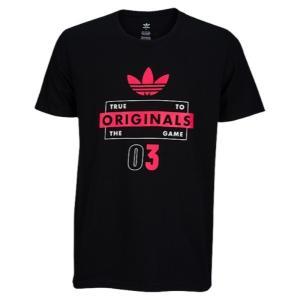 【即納】アディダス adidas Originals メンズ Tシャツ トップス Graphic T-Shirt Black/White/Pink|fermart