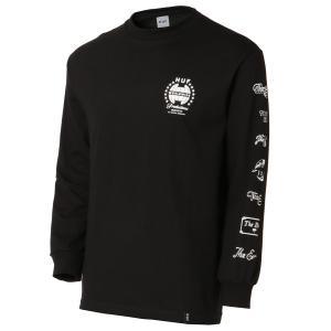 【即納】ハフ HUF メンズ 長袖Tシャツ トップス THE END L/S TEE BLACK ロンT ロングT ロングスリーブ|fermart