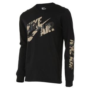【即納】ナイキ NIKE メンズ 長袖Tシャツ トップス Graphic Long Sleeve T-Shirt Black/Camo|fermart