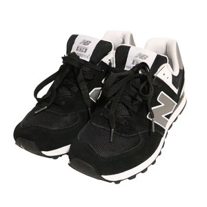 【即納】ニューバランス メンズ スニーカー シューズ・靴 M574SKW Black/White|fermart