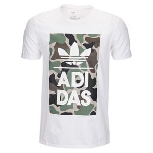 【即納】アディダス adidas Originals メンズ Tシャツ トップス Graphic T-Shirt White/Green/Brown|fermart
