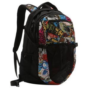 【即納】ザ ノースフェイス The North Face レディース バックパック・リュック バッグ Recon 31L Backpack Tnf Red Sticker Bomb Print/Tnf Black|fermart