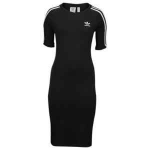 【即納】アディダス adidas Originals レディース ワンピース ワンピース・ドレス Adicolor 3-Stripe Dress Black/White|fermart