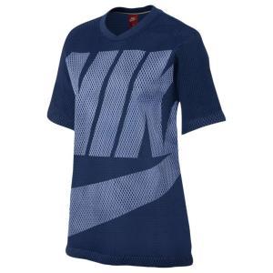 【即納】ナイキ NIKE レディース Tシャツ トップス Nike NSW Mesh Top Binary Blue/Aluminum|fermart