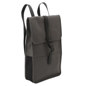 【即納】レインズ RAINS ユニセックス バックパック・リュック バッグ Backpack 1220 Charcoal デイパック 防水|fermart