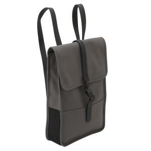 【即納】レインズ RAINS ユニセックス バックパック・リュック バッグ Backpack Mini 1280 Charcoal デイパック 防水|fermart