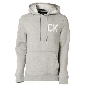 【即納】カルバンクライン Calvin Klein メンズ パーカー トップス NEW ICONIC GRAPHIC HOODIE MED CHARCOAL HTR フーディー フード|fermart