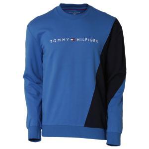 【即納】トミー ヒルフィガー Tommy Hilfiger メンズ スウェット・トレーナー トップス MODERN ESSENTIALS PULLOVER 964 HAMPTON BLUE クルーネック ロゴ|fermart