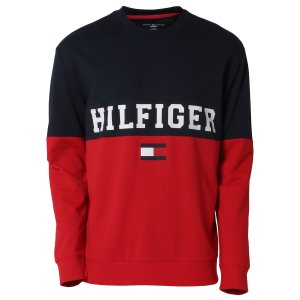 【即納】トミー ヒルフィガー Tommy Hilfiger メンズ スウェット・トレーナー トップス MODERN ESSENTIALS 410 DARK NAVY クルーネック ロゴ|fermart