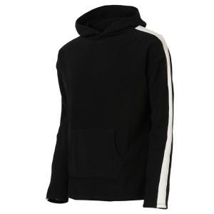 【即納】エンコーデッド ENCODED メンズ パーカー トップス フーディー フード Oversized line hoodie BLACK|fermart