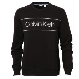【即納】カルバンクライン Calvin Klein メンズ スウェット・トレーナー トップス L/S CREWNECK W CHEST LOGOPRINT 40J6242 010 BLACK ロゴ クルーネック fermart