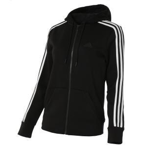 【即納】アディダス adidas レディース パーカー トップス full zip hoodie BLACK|fermart