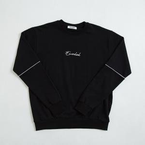 【即納】エンコーデッド ENCODED メンズ スウェット・トレーナー トップス ENBROIDERY LOGO SWEAT PO black|fermart
