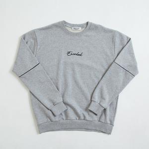 【即納】エンコーデッド ENCODED メンズ スウェット・トレーナー トップス ENBROIDERY LOGO SWEAT PO gray|fermart