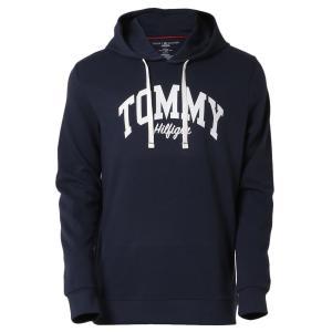 【即納】トミー ヒルフィガー Tommy Hilfiger メンズ パーカー トップス HOODIE DARK NAVY プルオーバー フーディー フード 裏起毛|fermart
