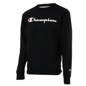 【即納】チャンピオン Champion メンズ スウェット・トレーナー トップス 裏起毛 クルーネック ロゴ USAモデル Graphic Powerblend Fleece Crew BLACK fermart