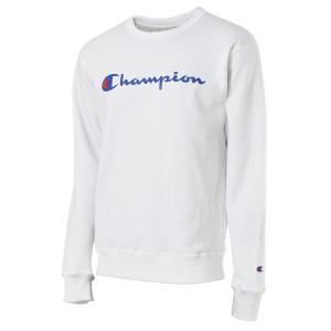【即納】チャンピオン Champion メンズ スウェット・トレーナー トップス 裏起毛 クルーネック ロゴ USAモデル Graphic Powerblend Fleece Crew WHITE fermart