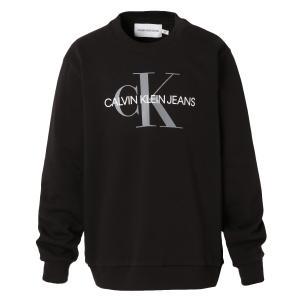 【即納】カルバンクライン Calvin Klein メンズ スウェット・トレーナー トップス LONG SLEEVE MONOGRAM CREW SWEATSHIRT 41VM875 BLACK モノグラム ロゴ fermart