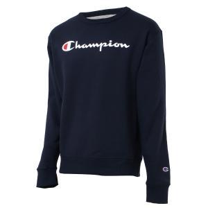 【即納】チャンピオン Champion メンズ スウェット・トレーナー トップス 裏起毛 クルーネック ロゴ USAモデル Graphic Powerblend Fleece Crew NAVY fermart