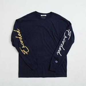【即納】エンコーデッド ENCODED メンズ 長袖Tシャツ トップス ロンT ロングT ロングスリーブ ASYMMETRY C BODY L/S TEE navy|fermart