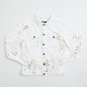 【即納】エンコーデッド ENCODED メンズ ジャケット アウター DROP PAINT DENIM JACKET white|fermart