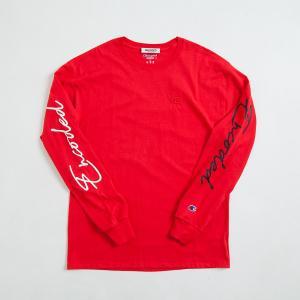 【即納】エンコーデッド ENCODED メンズ 長袖Tシャツ トップス ロンT ロングT ロングスリーブ ASYMMETRY C BODY L/S TEE red|fermart