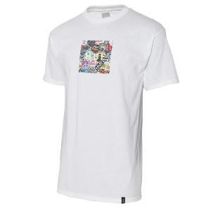 【即納】ハフ HUF メンズ Tシャツ トップス STICKER WARS BOX LOGO S/S TEE WHITE|fermart