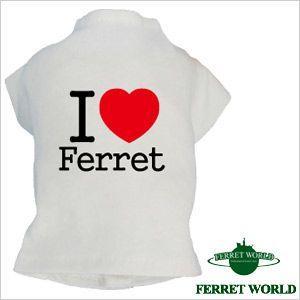 鼬Tシャツ I LOVE FERRET(ウェア) (洋服)  フェレット フェレット用Tシャツ フェレットウェア ウェアー プリントTシャツ オシャレ|ferretwd