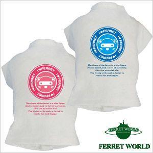 鼬Tシャツ simple face(ウェア) (洋服)  フェレット フェレット用Tシャツ フェレットウェア ウェアー プリントTシャツ オシャレ|ferretwd