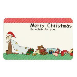 (受注生産) (FWF) クリスマス メッセージカード 穴のあいた袋のフェレットサンタ(6枚セット)フェレット クリスマス ギフト プレゼント メッセージ ギフトカー|ferretwd