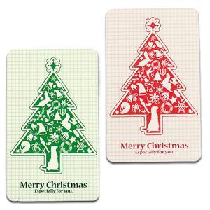 (受注生産) (FWF) クリスマス メッセージカード ツリー(6枚セット)フェレット クリスマス ギフト プレゼント メッセージ ギフトカード ラッピング カード 雑|ferretwd