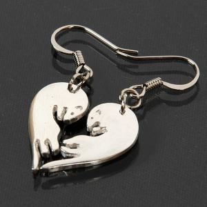 ITANZA フェレットピアス Love Ferret(BN-001) フェレット オーナーグッズ オーナー雑貨 アクセサリー ピアス シルバー ピュアシルバー 純銀 ハンドメイド|ferretwd