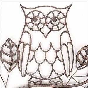 ウォールデコレーション OWL(YFH-1180)フクロウ ふくろう 雑貨 アイアン 飾り 壁飾り ガーデニング ディスプレイ 壁掛け 玄関 ウォールデコ アンティーク レトロ ferretwd 02