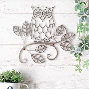 ウォールデコレーション OWL(YFH-1180)フクロウ ふくろう 雑貨 アイアン 飾り 壁飾り ガーデニング ディスプレイ 壁掛け 玄関 ウォールデコ アンティーク レトロ ferretwd 04