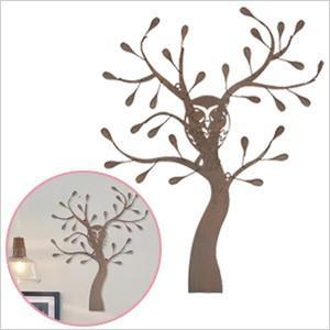 ウォールデコレーション OWLツリー(YFH-1420)フクロウ ふくろう 雑貨 アイアン 飾り 壁飾り ガーデニング ディスプレイ 壁掛け 玄関 ウォールデコ アンティーク|ferretwd