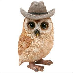 フクロウ 置物 OWL アドベンチャー ふくろう 雑貨 オーナー雑貨 オブジェ ガーデンオブジェ ガーデニング オーナメント アンティーク レジン インテリア|ferretwd