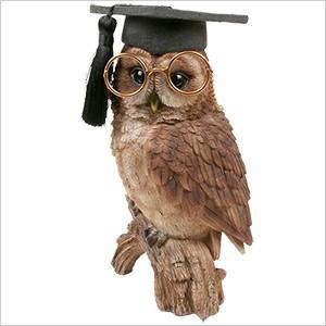 フクロウ 置物 OWL プロフェッサー ふくろう 雑貨 オーナー雑貨 オブジェ ガーデンオブジェ ガーデニング オーナメント アンティーク レジン インテリア|ferretwd
