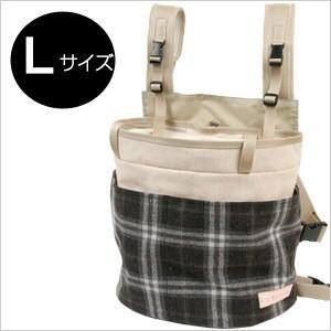 フェレット キャリー LIP1000 抱っこバッグ タータンブラック×ナチュラル(蓋付き)Lサイズ(送料無料) 犬/ドッグ/ペット/キャリーバッグ/キャリーケース|ferretwd
