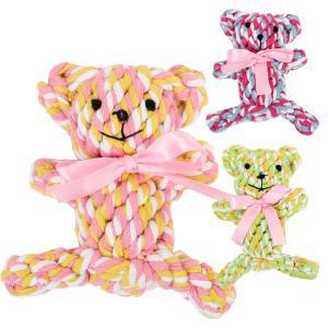 歯みがきTOY デンタルロープ ベア フェレット ペット おもちゃ ぬいぐるみ 玩具 デンタル 歯磨き はみがきTOY ロープ|ferretwd