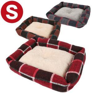 i Dog  スクエアベッド チェック Sサイズ 犬 ドッグ ペット スクエアベッド フェレット HOTマット 冬用 ラウンド スクエア 小型犬 超小型犬 子犬 小動物|ferretwd