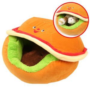 フェレット ベッド ハンバーガーカドラー(5613) マット ラウンド型 カドラー 小動物 冬用 秋用 ドーム型|ferretwd