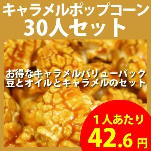 ポップコーン キャラメルポップコーン 30人セット ポップコーン豆 フレーバー オイル 材料セット|fescogroup
