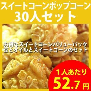 ポップコーン スイートコーンポップコーン 30人セット ポップコーン豆 フレーバー オイル 材料セット|fescogroup