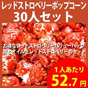 ポップコーン レッドストロベリーポップコーン 30人セット ポップコーン豆 フレーバー オイル 材料セット|fescogroup