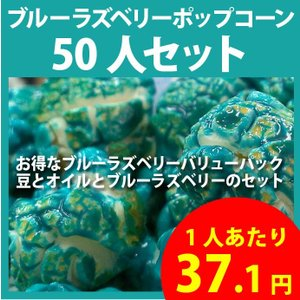 ポップコーン ブルーラズベリーポップコーン 50人セット ポップコーン豆 フレーバー オイル 材料セット|fescogroup