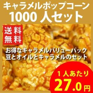 ポップコーン キャラメルポップコーン 1000人セット ポップコーン豆 フレーバー オイル 材料セット|fescogroup