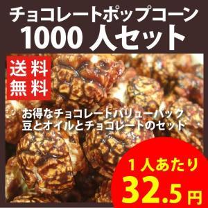 ポップコーン チョコレートポップコーン 1000人セット ポップコーン豆 フレーバー オイル 材料セット|fescogroup
