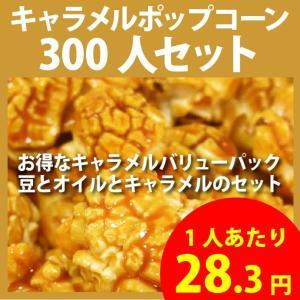 ポップコーン キャラメルポップコーン 300人セット ポップコーン豆 フレーバー オイル 材料セット|fescogroup