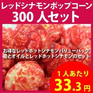 ポップコーン レッドホットシナモンポップコーン 300人セット ポップコーン豆 フレーバー オイル 材料セット|fescogroup