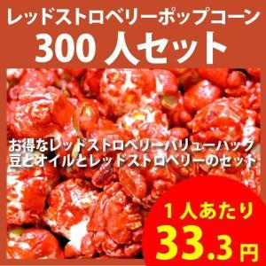 ポップコーン レッドストロベリーポップコーン 300人セット ポップコーン豆 フレーバー オイル 材料セット|fescogroup
